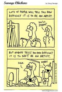 artist cartoon