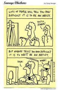 artist cartoon